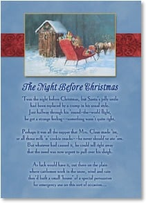 Christmas Card - The Night Before Christmas Poem - Outhouse Humor | Bill Bender | 2003315-P | Leanin' Tree