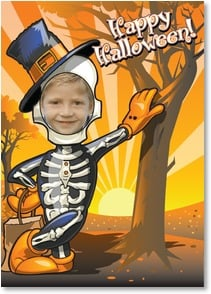 Halloween Card - Before you eat your treats, I have to say... Bone Appetit! | Brant Nicholason | 2003317-P | Leanin' Tree