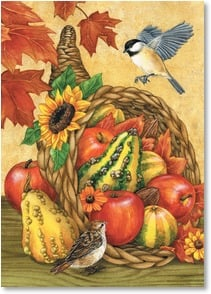 Thanksgiving Card - Autumn is the time to harvest friendship, gratitude &amp; hope. | Jane Maday | 2003323-P | Leanin' Tree