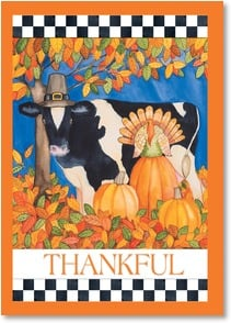 Thanksgiving Card - May your day be a gathering of joy and thankfulness! | Kathleen Parr McKenna | 2003329-P | Leanin' Tree