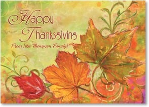 Thanksgiving Card {Name} - When we count our blessings, we always find you there. | Connie Haley | 2003331-P | Leanin' Tree