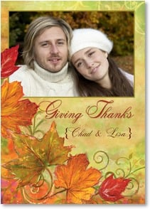 Thanksgiving Card {Name} - When we count our blessing, we always think of you! | Connie Haley | 2003332-P | Leanin' Tree