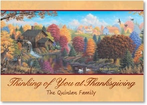 Thanksgiving Card {Name} - You're wished all the gladness that your heart can hold | Mark Daehlin | 2003334-P | Leanin' Tree