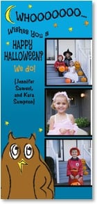 Halloween Card {Name} - WHOOOOOO Wishes You a HAPPY HALLOWEEN? We do! | LT Studio | 2003338-P | Leanin' Tree