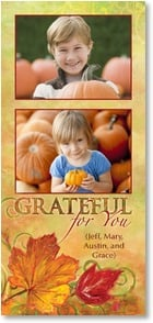 Thanksgiving Card {Name} - GRATEFUL for you | Connie Haley | 2003341-P | Leanin' Tree