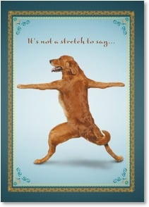 Thank You & Appreciation Card - It's not a stretch to say...You're the best! | Yoga Dogs®/Yoga Cats | 2003363-P | Leanin' Tree