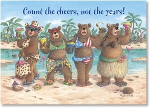 Birthday Card - Count the cheers, not the years! Cheers to you! | Jeffrey Severn | 2003376-P | Leanin' Tree