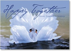 Wedding Card - Happy Together - Today Tomorrow Forever - Best Wishes | Danny Hahlbohm | 2003379-P | Leanin' Tree