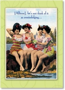Birthday Card - We're Aging Gracefully With Our Toes In The Sand! | Postmark Press Inc. | 2003387-P | Leanin' Tree