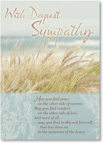 Sympathy Card - May you find peace and comfort...at your time of loss | Claire Brocato | 2003389-P | Leanin' Tree