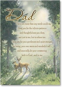 Father's Day Card - Happy Father's Day w/ James 1:17 | Janene Grende | 2003391-P | Leanin' Tree