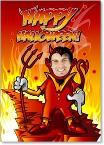 Halloween Card - Just wanted to wish you a Helluva Happy Halloween! | Brant Nicholason | 2003397-P | Leanin' Tree