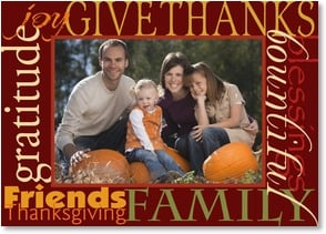 Thanksgiving Card - Our family wishes you a wonderful Thanksgiving | LT Studio | 2003404-P | Leanin' Tree