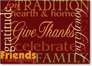 Thanksgiving Card - Celebrate and Give Thanks | LT Studio | 2003406-P | Leanin' Tree