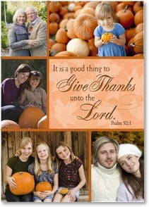 Thanksgiving Card - We thank the Lord for you! Psalm 92:1 | LT Studio | 2003407-P | Leanin' Tree