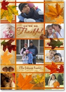 Thanksgiving Card {Name} - We're So Thankful For Friends and Family | LT Studio | 2003408-P | Leanin' Tree
