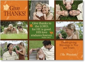 Thanksgiving Card - Thanksgiving Blessings; Psalm 136:1 | LT Studio | 2003409-P | Leanin' Tree