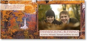 Thanksgiving Card {Name} - I will praise Thee, O Lord... Blessings; Psalm 9:1 | Robert  Cushman Hayes | 2003410-P | Leanin' Tree