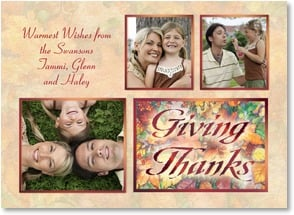 Thanksgiving Card {Name} - Giving Thanks | Kathleen Parr McKenna | 2003411-P | Leanin' Tree