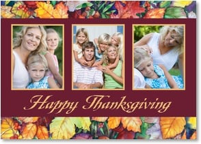 Thanksgiving Card - Wishing You a Wonderful and Colorful Thanksgiving! | Kathleen Parr McKenna | 2003412-P | Leanin' Tree
