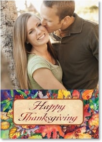 Thanksgiving Card - We Give Thanks For Good Friends | Kathleen Parr McKenna | 2003413-P | Leanin' Tree