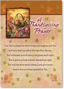 Thanksgiving Card - Joyous Thanksgiving wishes to you all;  Jeremiah 30:19 | Gail Marie® | 2003414-P | Leanin' Tree