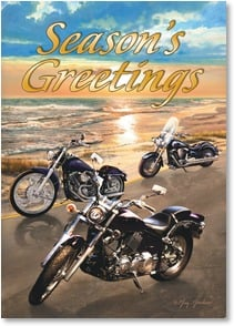 Holiday Card - Hope you're cruising happily through the Holiday Season! | Greg Giordano | 2003425-P | Leanin' Tree