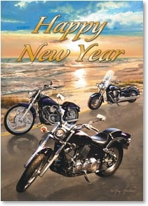 New Year's Day Card - Hope you're cruising happily into another exciting year! | Greg Giordano | 2003426-P | Leanin' Tree