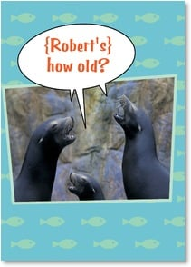 Birthday Card {Name} - {Recipient's} how old?  Ar! Ar! Ar! Ar! Ar! | Michael Weinman | 2003428-P | Leanin' Tree