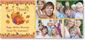 Thanksgiving Card {Name} - Give Thanks  Happy Holiday Blessings | Sue Zipkin | 2003469-P | Leanin' Tree
