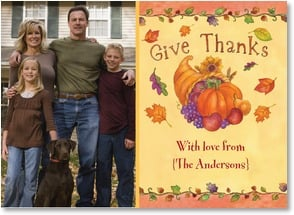 Thanksgiving Card {Name} - Thanks and Love | Sue Zipkin | 2003470-P | Leanin' Tree