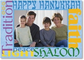 Hanukkah Card - Blessings for a beautiful and meaningful celebration. | LT Studio | 2003472-P | Leanin' Tree