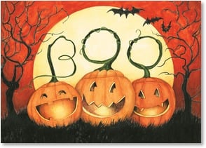 Halloween Card - Just wanted to send smiles your way! | Susan Winget | 2003481-P | Leanin' Tree