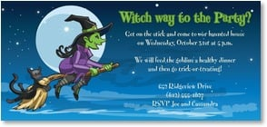 Halloween Invitation - Witch way to the Party? | Brant Nicholason | 2003483-P | Leanin' Tree