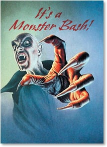 Halloween Invitation - Monster Bash! | Jim Warren | 2003487-P | Leanin' Tree
