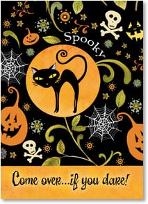Halloween Invitation - Come over...if you dare! | Sue Zipkin | 2003489-P | Leanin' Tree