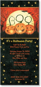Halloween Invitation - Celebrate with BOO! | Susan Winget | 2003490-P | Leanin' Tree