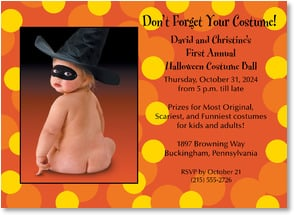 Halloween Invitation - Spots n Dots | Harvey Gariety | 2003491-P | Leanin' Tree