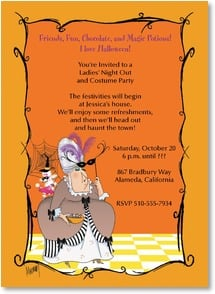 Halloween Invitation - Costumes and Candy | Leslie Moak Murray | 2003492-P | Leanin' Tree