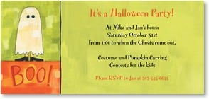 Halloween Invitation - Scare up a party! | Ursula Dodge | 2003493-P | Leanin' Tree