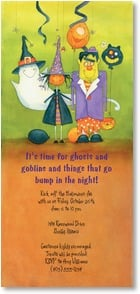 Halloween Invitation - It's time for ghosts & goblins! | Julie Dobson Miner | 2003494-P | Leanin' Tree