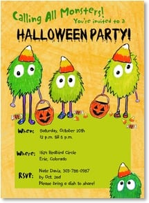 Halloween Invitation - Calling All Monsters! | LT Studio | 2003495-P | Leanin' Tree