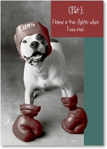 Cancer Support Card - I know a true fighter...here's to the old one-two punch! | Rachael Hale® | 2003497-P | Leanin' Tree