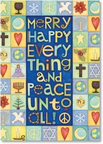 Holiday Card - Merry Happy Everything...Joyous Greetings of the Season | Beth Logan | 2003508-P | Leanin' Tree
