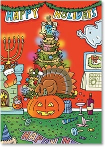 Holiday Card - Happy Holidays...Merry Everything - 2003509-P | Leanin' Tree