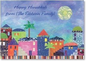 Hanukkah Card - It's time to greet the friends we're blessed to know. | Lori Siebert | 2003542-P | Leanin' Tree