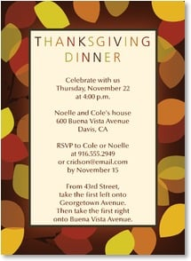 Thanksgiving Invitation - Celebrate Thanksgiving with us | LT Studio | 2003545-P | Leanin' Tree