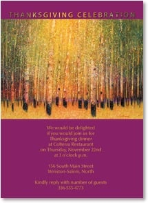 Thanksgiving Invitation - Thanksgiving Celebration | Gary Max Collins | 2003548-P | Leanin' Tree