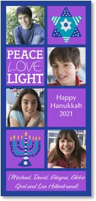 Hanukkah Card - Peace Love Light...Happy Hanukkah | Lori Siebert | 2003553-P | Leanin' Tree