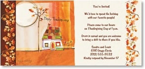 Thanksgiving Invitation - We'd love to spend the holiday with our favorite people! | Robbin Rawlings | 2003555-P | Leanin' Tree